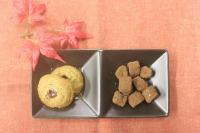 カカオ豆とヘーゼルナッツのリンツァークッキー・お麩のラスクショコラ